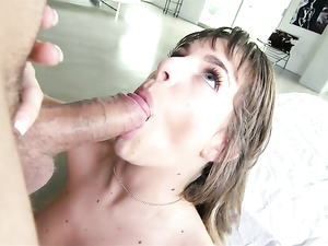 Lollipop Loving Teenager Prefers To Suck A Big Cock