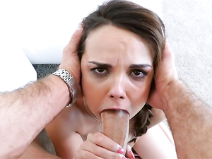 Cute Cocksucker Gives A Sloppy BJ And Gets Banged