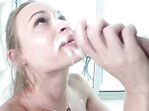 Tiny Brunette Teen Babe Sucks And Fucks His Big Dick