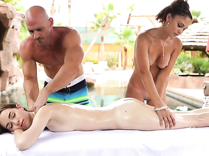 Erotic Couples Massage Turns Hardcore Outdoors