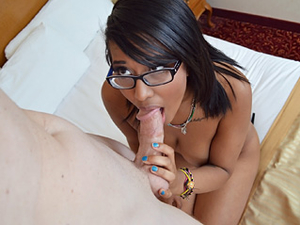 Black Slut Blowing White Dick To Get Laid