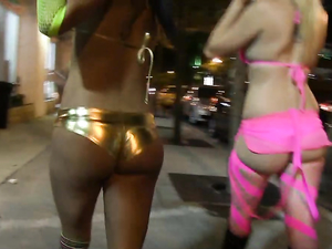 Pornstars Party In Public Dressed Like Sluts