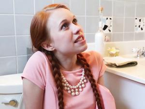 Cock Looks Huge Fucking This Tiny Teen Redhead