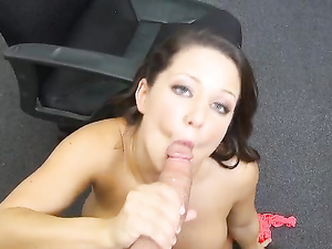 Busty Sweetheart Gives A Wonderful POV Blowjob