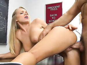 Blowing The Teacher Gets This Cute Slut Creampied