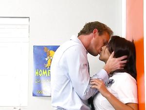 Fucking Wet Schoolgirl Pussy Makes The Teacher Cum