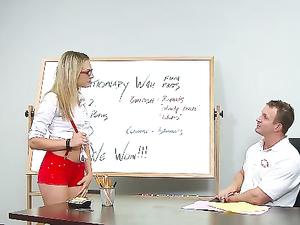 Nerdy Bailey Blue Banged By Her Teacher