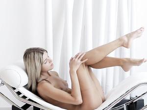 Small Tits And Hard Nipples Teen Masturbates Solo