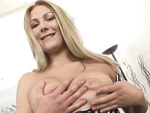 Hot Ass Girl In A Hooker Dress Rubs Her Tasty Pussy
