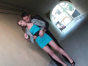 Public Ass Flashing Makes Her Horny For A Threesome