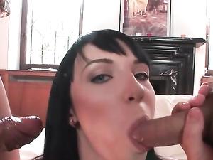 Hard Cocks For A Skinny European Slut To Suck On