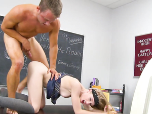 Avril Hall Stays After Class For Schoolgirl Sex