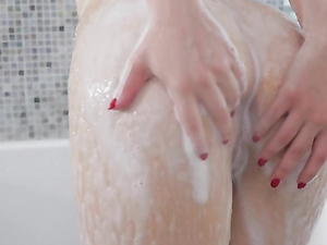Showering Teen Hottie Joins Her Man In Bed For A Fuck
