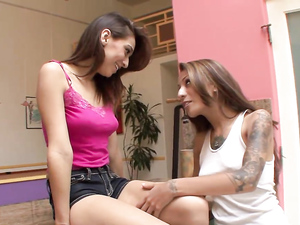 Pierced And Tattooed Stepsister Eats Her Out