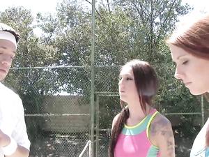 Teen Tennis Skirt Cutie Fucked Outdoors