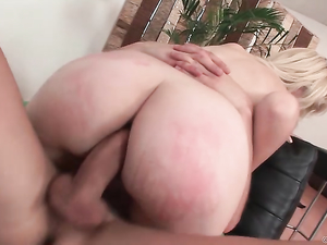 Anally Gaped Slut Sucks His Hard Dick Clean