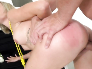 Fit 19 Year Old Does A Split On His Hard Cock