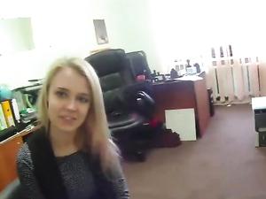 Taut Blonde Cocksucker Rides A Big Hard Boner
