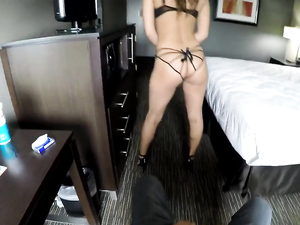 Her Curvy Booty Is Best In POV Reverse Cowgirl
