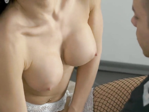 Lingerie Model And The Photographer Have Anal Sex