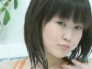 Asian With Teen A Cups Masturbates In The Tub