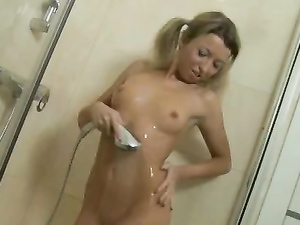 Soapy Teen Pussy Masturbation In The Shower