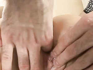 Drilling Teen Cunt And Rubbing Her Hot Clit