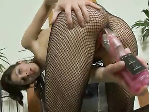 Hot Skinny Body On A Toy Fucking Lingerie Babe