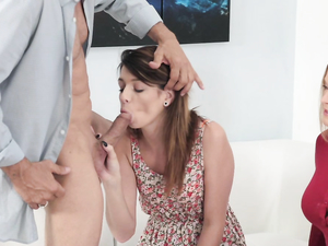 Husband Fucks Teen Ass While His Wife Watches